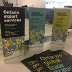Ontario Ministry of International Trade brochure trio