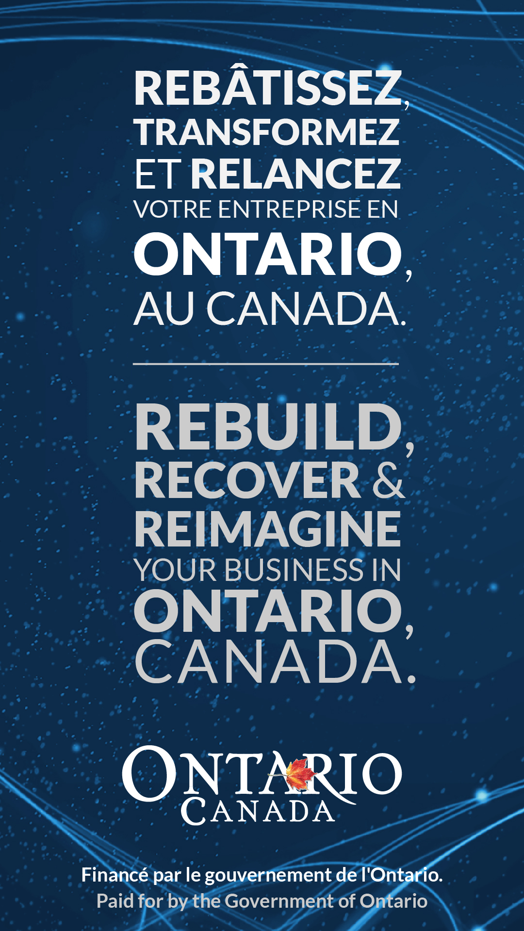 Rebuild, recover and reimagine your business in Ontario, Canada.