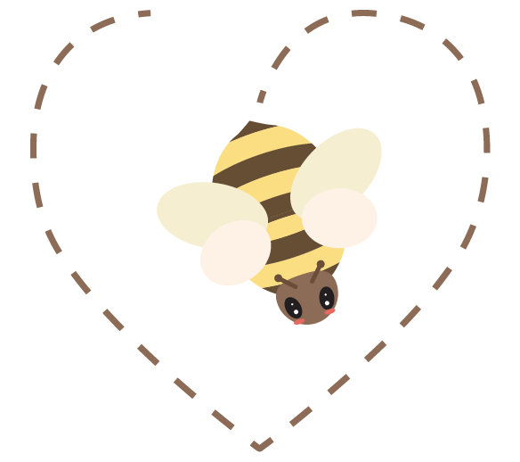 Bee in a heart