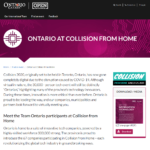 Ontario at Collision from Home