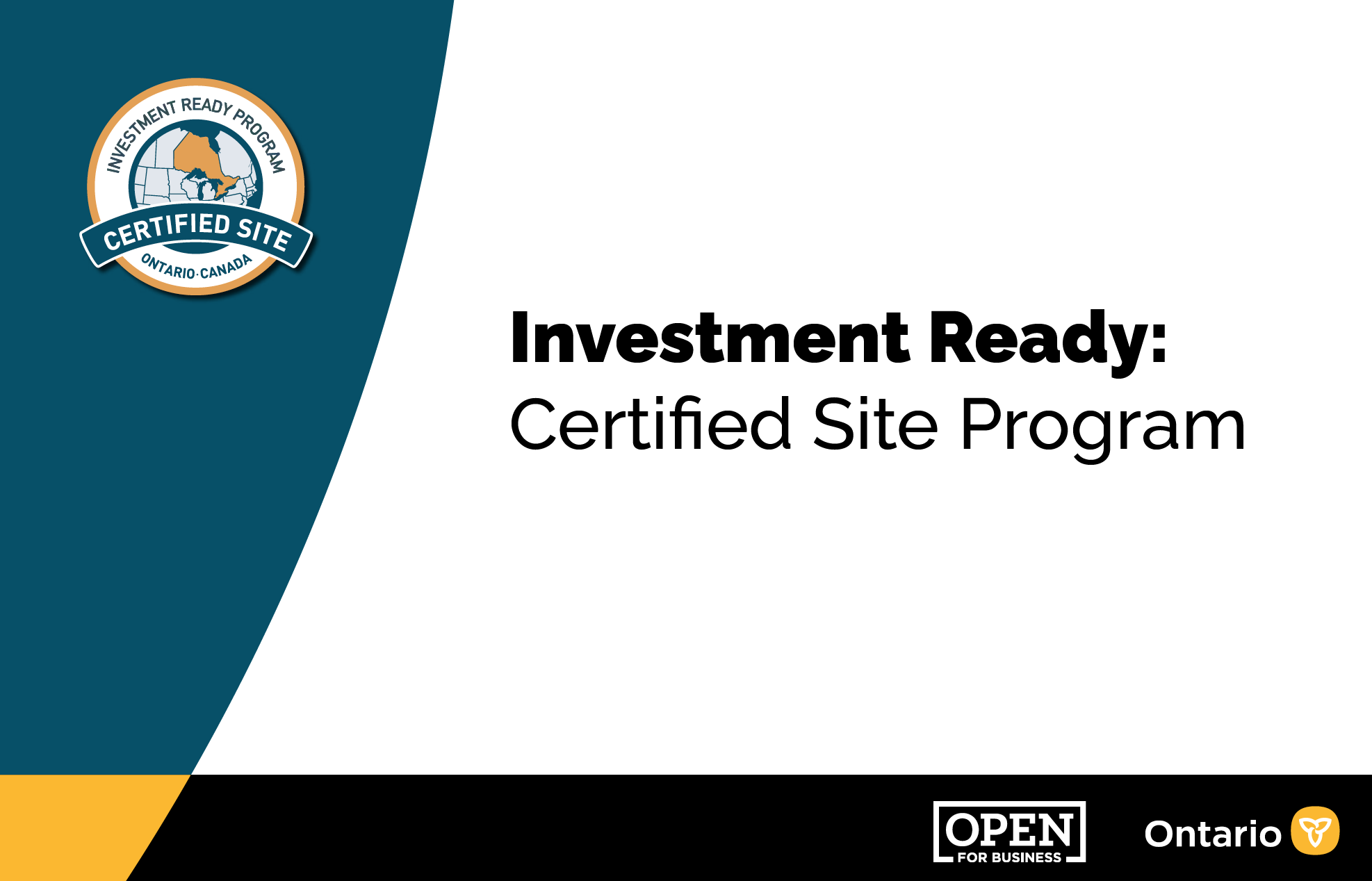 Investment Ready: Certified Site Program